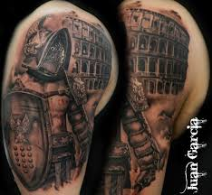 Dark Warrior Half Sleeve Tattoo