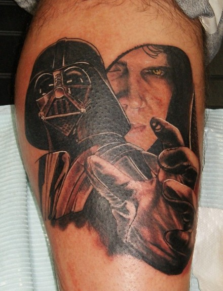 Darth Vader Tattoo On Thigh