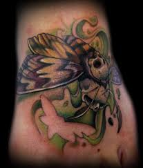 Death's Head Moth Skull Tattoo