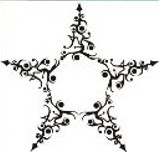 Designed Star Tattoo Stencil