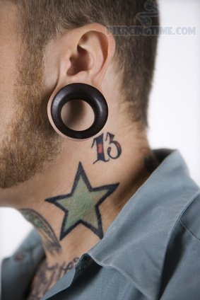 Digits And Star Neck Tattoos