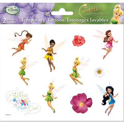Disney Fairies Tinker Bell Temporary Tattoos