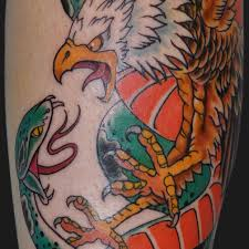Eagle And Snake Fight Tattoo
