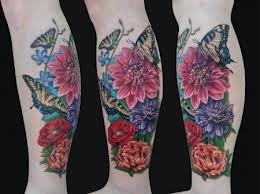 Elegant Leg Sleeve Tattoos