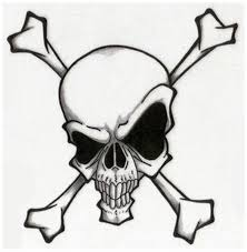 Evil Skull And Cross Bones Tattoo Design