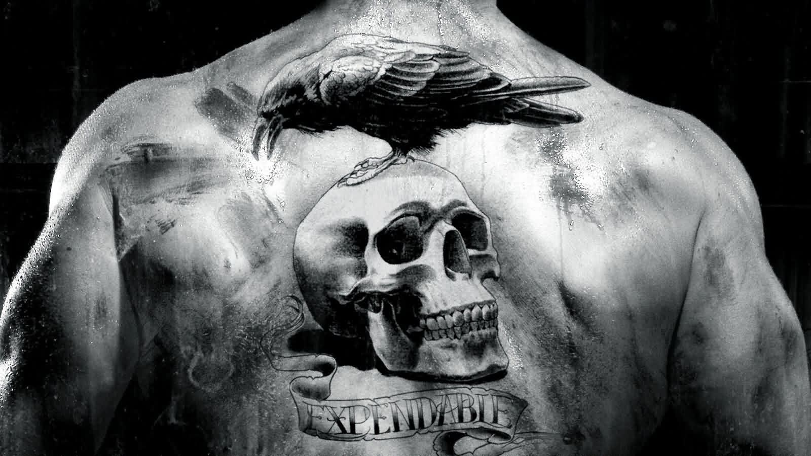 Expendable Crow Skull Tattoo