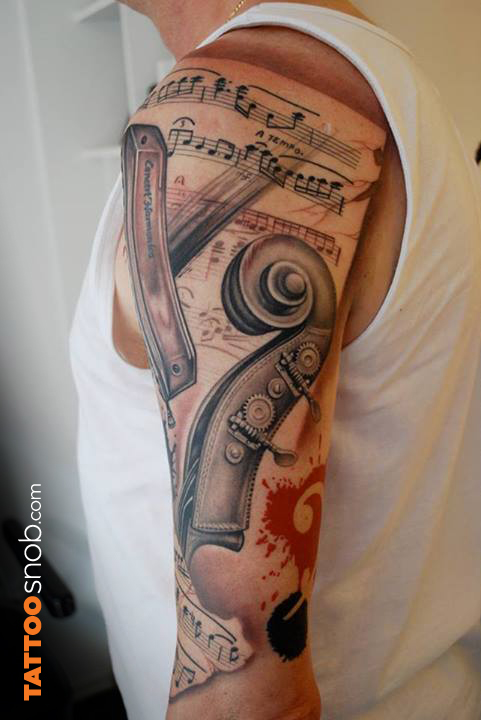 Fabulous Music Tattoos For Guys