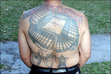 Fabulous Sports Tattoos On Complete Back