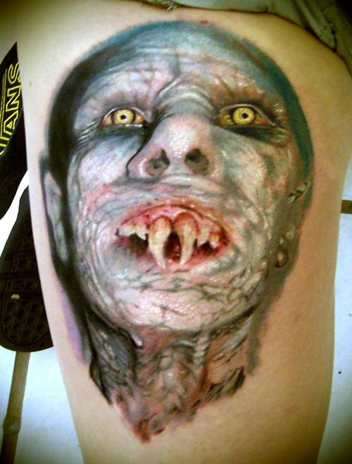 Famous Monster Portrait Tattoo Design