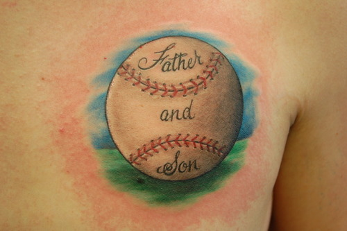 Father And Son Baseball Tattoo