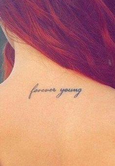 Forever Young Neck Tattoo