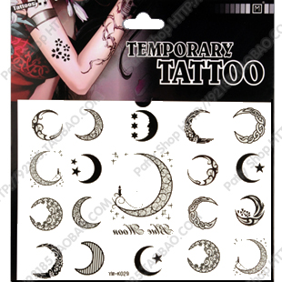 Free Moon Stars Temporary Tattoos