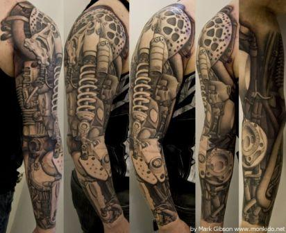 Full Sleeve Mechanical Tattoos