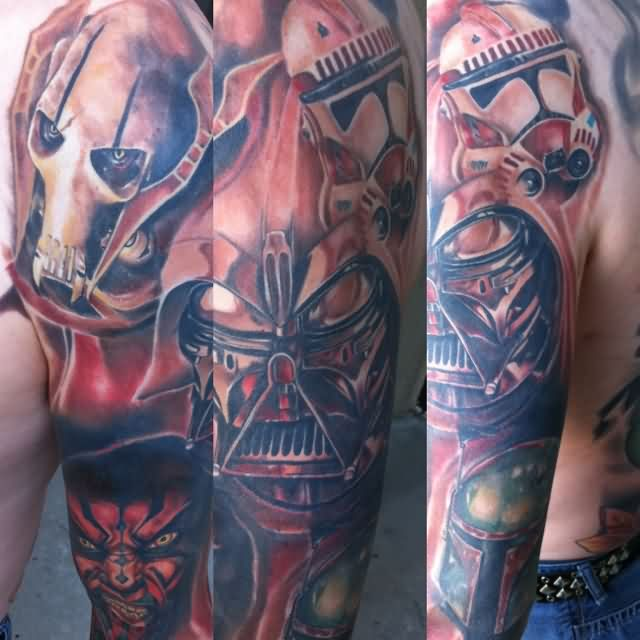 Full Sleeve Star Wars Tattoos
