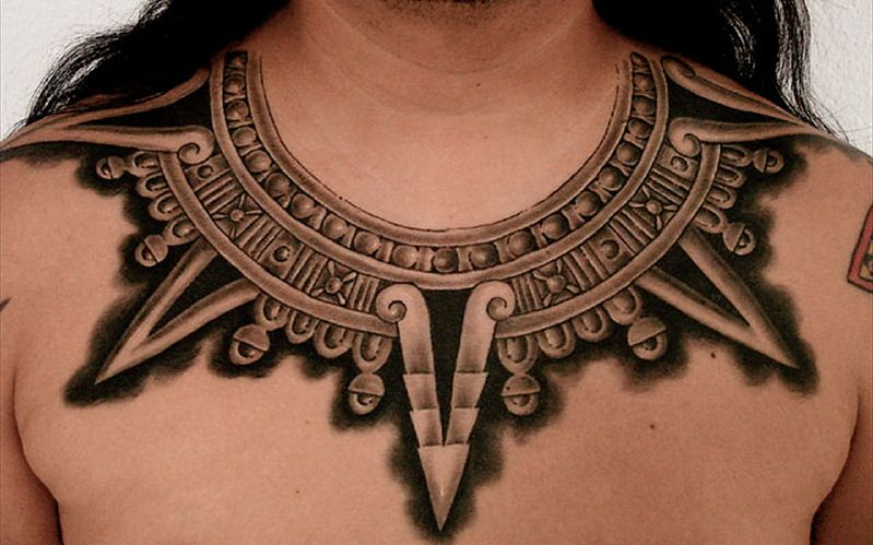 Goethe Tattoos Around The Neck Tattoo