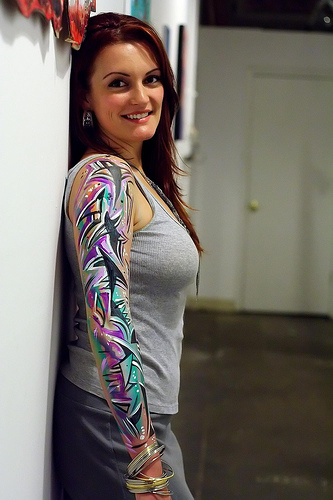 Gorgeous Right Sleeve Tattoo For Girls And Women