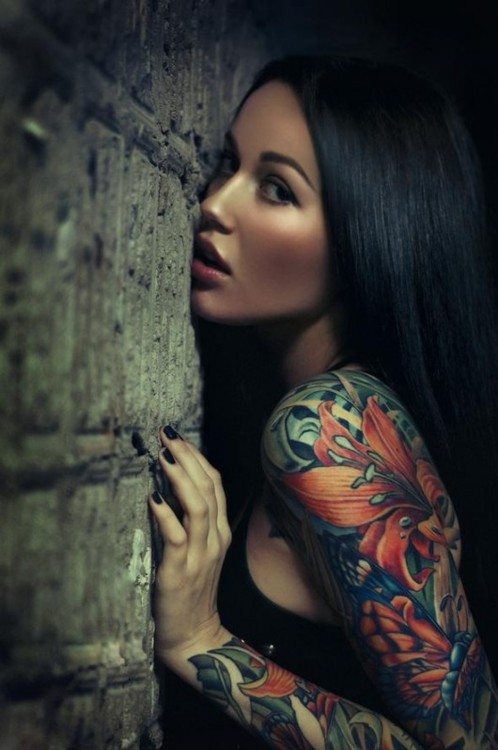 Gorgeous Sleeve Tattoos For Fashion Girls