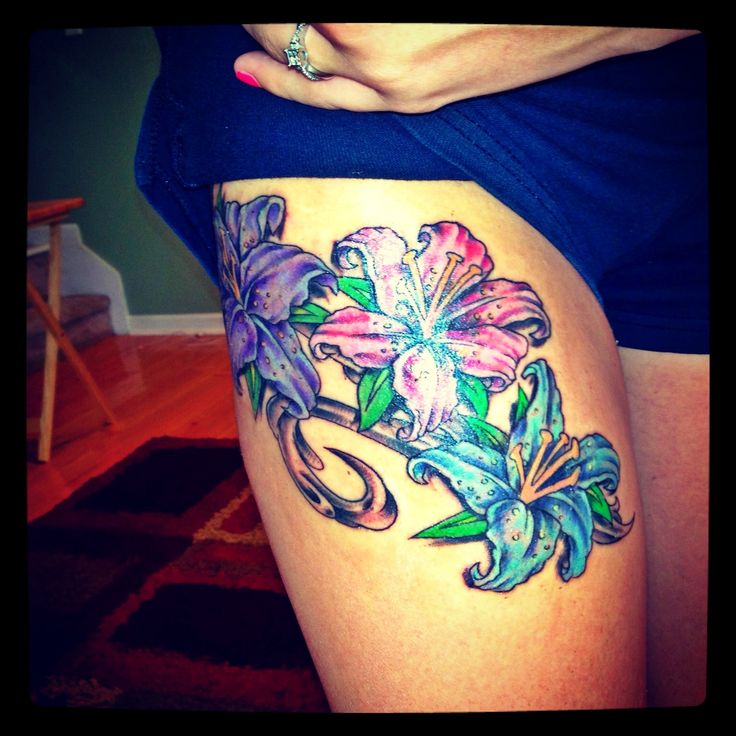Gorgeous Upper Thigh Tattoos