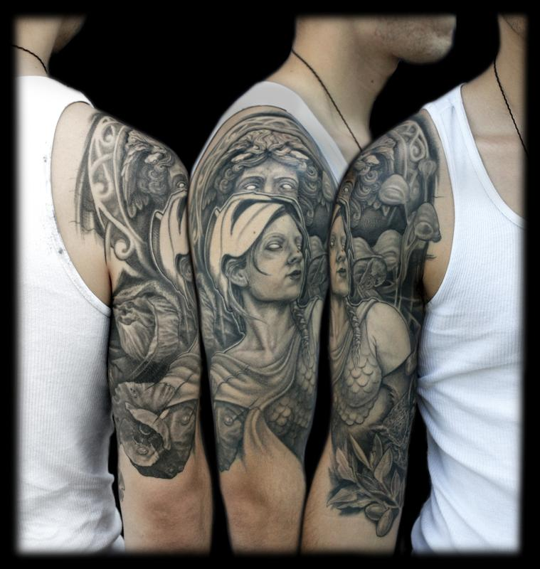 Greek Mythology Half Sleeve Tattoos For Men