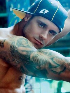 Grey Angel Tattoo On Muscles