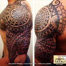 Half Sleeve Polynesian Tattoos For Men