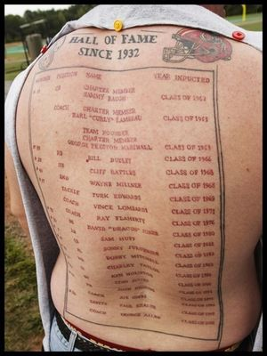 Hall Of Fame Tattoo On Backside