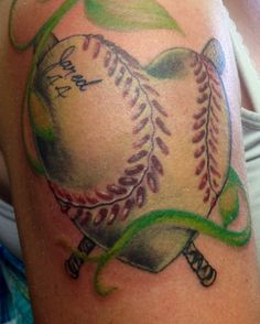 Heart Baseball Tattoo