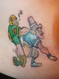 Hilarious Sports Tattoo On Waist