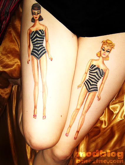 Hot Barbie Thigh Tattoos