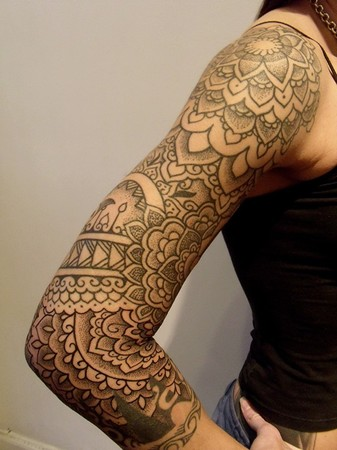 Incredible Feminine Right Sleeve Tattoos