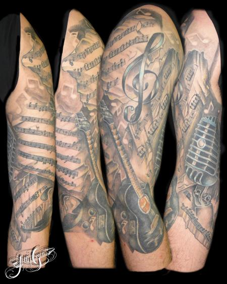 Incredible Music Sleeve Tattoos