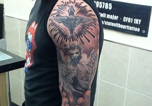 Incredible Religious Sleeve Tattoos