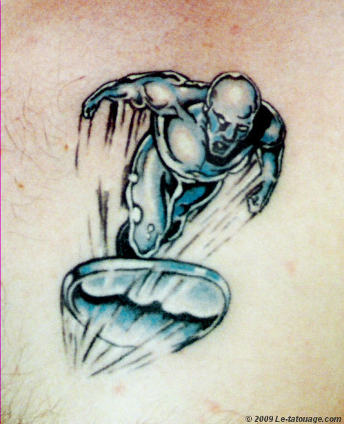 Incredible Silver Surfer Tattoo