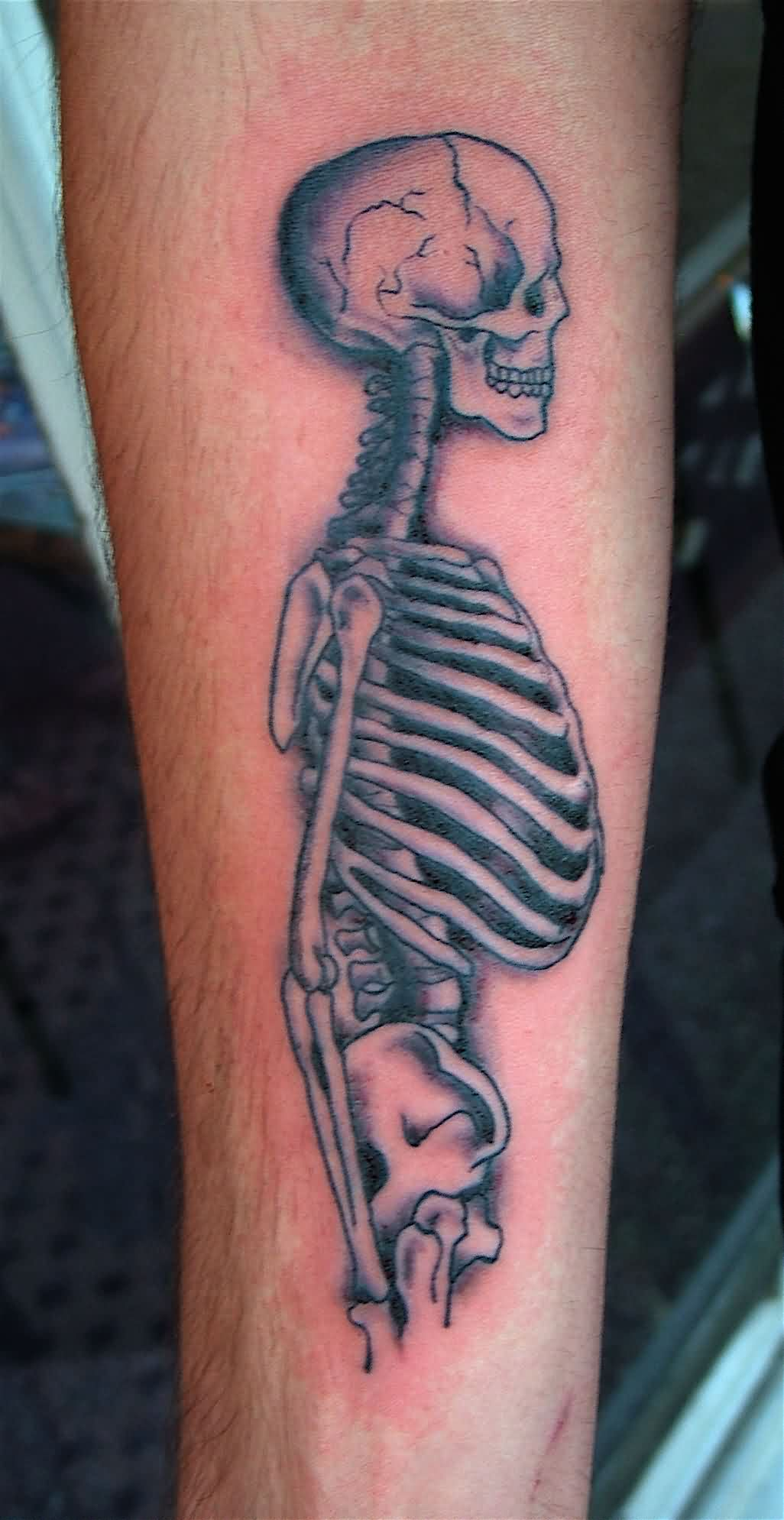 Incredible Skeleton Tattoo On Arm