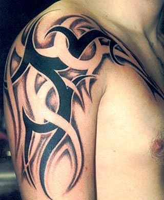 Incredible Tribal Shoulder Tattoo