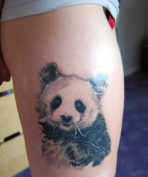 Innocent Panda Bear Tattoo