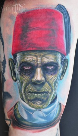 Large Mummy Portrait Tattoo
