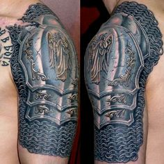 Latest Armor Shoulder Tattoos For Men
