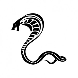 Latest Black Cobra Tattoo Stencil
