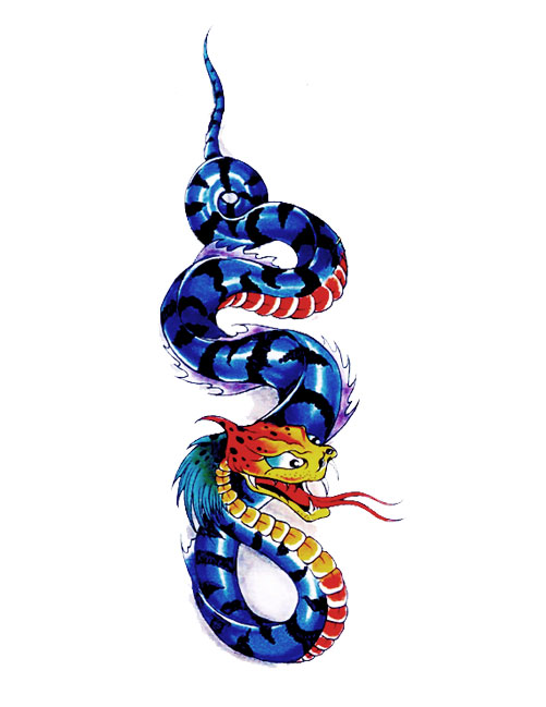 Latest Chinese Snake Tattoo Design