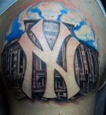 Latest NY Yankees Logo Tattoo On Shoulder