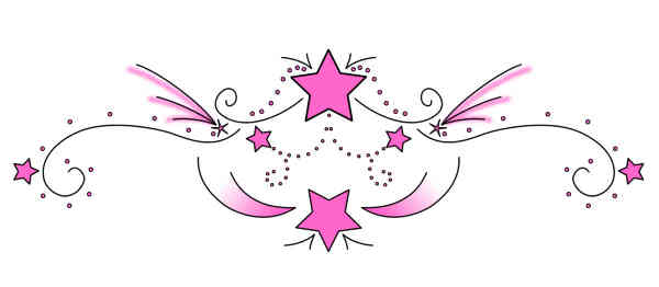 Latest Pink Star Tattoo Designs For Lowerback