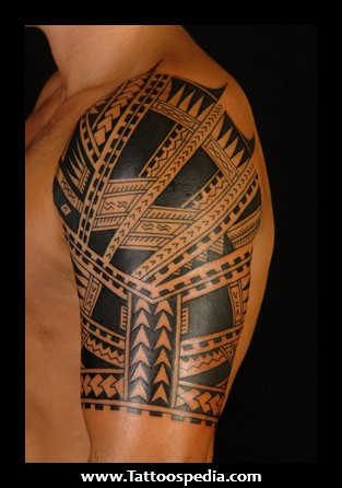 Latest Polynesian Half Sleeve Tattoo For Men