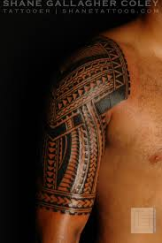 Latest Polynesian Half Sleeve Tattoo