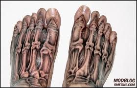 Latest Skeleton Feet Tattoos