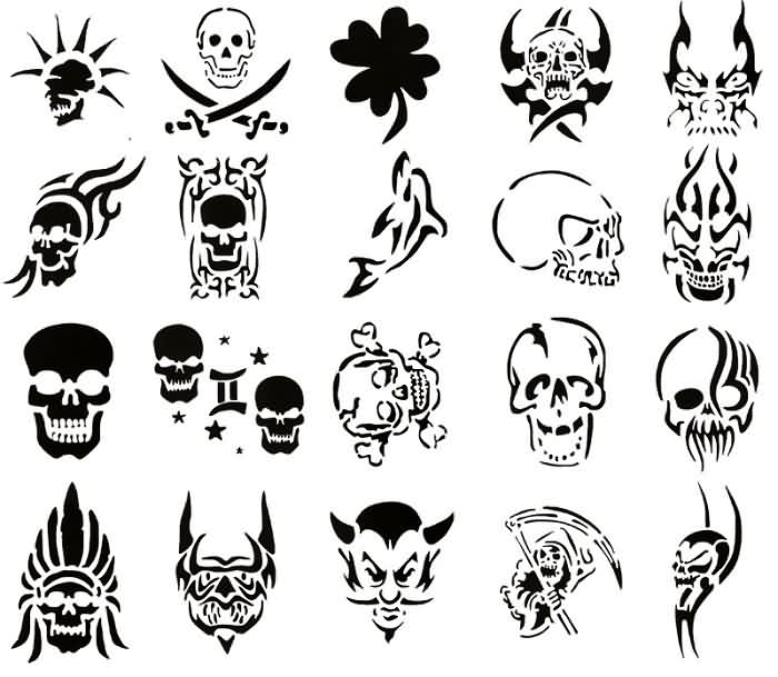 Latest Tribal Skull Tattoos Collection