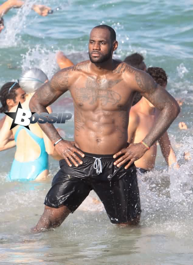 Lebron's Muscles Tattoos