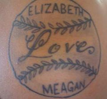 Love Baseball Tattoo