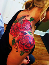 Lovely Shoulder Tattoos For Girls