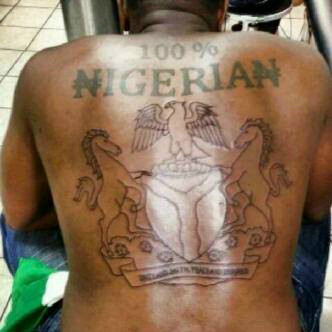 100% Nigerian Patriotic Tattoos